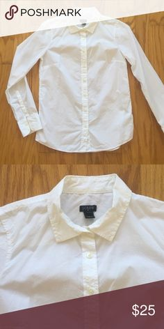 J. Crew white shirt Simple white button down from J Crew. Worn only once. 100% cotton. J. Crew Tops Button Down Shirts