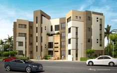 Residential buildings in Kattameya Plaza CompoundSodic - New Cairo - 2010