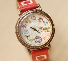 Vintage Watch Handstitch Leather Band ///////// by metaletlinnen - amazing handmade watches http://www.youtube.com/watch?v=nv3Gqj6caC0=player_embedded