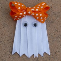 Halloween Hairbow! This would be so easy to make!