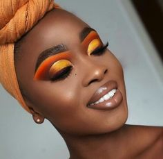 Yellow Makeup, Black Girl Makeup, Girls Makeup, Make Up Looks, Eye Makeup Tips, Eyeshadow Makeup, Pigment Eyeshadow, Eyeshadow Brands, Eyeshadow Palette
