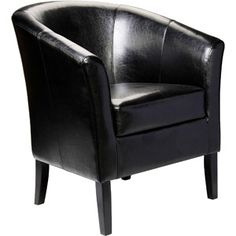 Next to side table by picture window.  Simon Club Chair, Black  $149.00