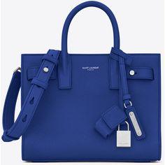 187319059e91 Saint Laurent Nano Sac De Jour Souple Bag ($2,055) ❤ liked on Polyvore  featuring bags, handbags, shoulder bags, blue purse, blue shoulder bag, real  leather ...