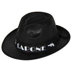 Ga verkleed als gangster met deze zwarte Al Capone hoed.