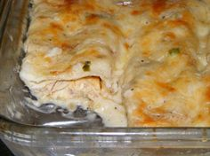 Sour Cream Chicken Enchiladas - http://4wellrecipes.com/sour-cream-chicken-enchiladas/
