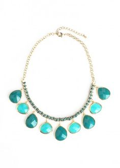 Sea Jewels Necklace in Teal $35.00