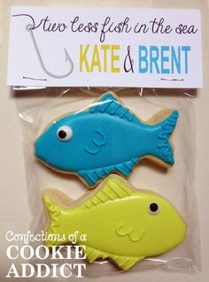 Two less fish in the sea cookies