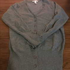 V-neck cardigan V-neck cardigan with button detail. (Forever 21). Underarm area has some very slight rubbing from wearing. Forever 21 Sweaters Cardigans