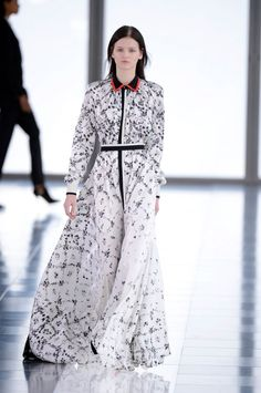 Fall Fashion 2013 Black and White. Preen. Amazing fabric!
