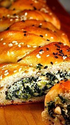 Spinach & Ricotta Stuffed Challah