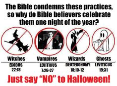 """Though not my truth (no disrespect), it is definitely worthy of this board: Just say """"NO"""" to Halloween! (which I love)"""