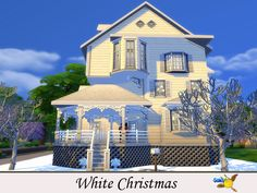 A 3 bedroom classic house decorated for Christmas days. Its whiteness both outside and inside brings a magical feeling as it has come out from a fairy tail Found in TSR Category 'Sims 4 Residential Lots' Christmas Decorations For The Home, Sims Community, Lamp Sets, Electronic Art, Classic House, White Christmas, Mansions, House Styles, Manor Houses