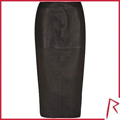 #RihannaforRiverIsland LIMITED EDITION Black Rihanna snake embossed leather skirt. #RIHpintowin click here for more details >  http://www.pinterest.com/pin/115334440431063974/
