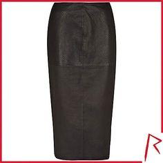 #RihannaforRiverIsland LIMITED EDITION Black Rihanna snake embossed leather skirt. #RIHpintowin click here for more details >  http://www.pinterest.com/pin/115334440431063974/