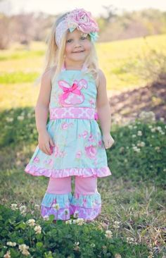 Girls Easter Bunny Tunic & Pant Set 6 to 10 Years Now In Stock