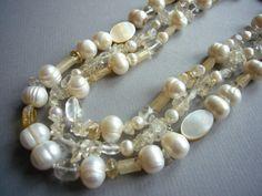 Perlencollier 3-reihig von felicitas mayer ~ schmuck & accessoires auf DaWanda.com