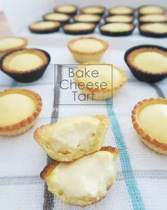DreamersLoft: Hokkaido Bake Cheese Tart III Recipe FULL RECIPE HERE Baked Cheese Recipe baked cheesecake recipe easy baked cheesecake reci. Pastry Recipes, Tart Recipes, Baking Recipes, Sweet Recipes, Mini Desserts, Asian Desserts, Bake Cheese Tart, Cheese Tarts, Sweet Pie