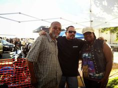 MrJ and I with Emilio Rivera - Monster Car and Bike Fest. - Rancho Cucamonga, CA