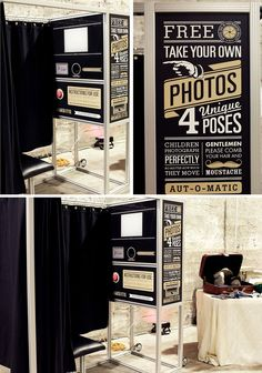photobooths are super entertaining and the pictures are excellent party favors!