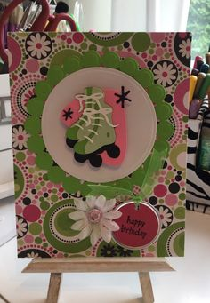 Birthday Card / Made with Spellbinders and Nifty Fifties Cricut Cartridge / Handcrafted By Cindy Babich (Cindyswishestogive 2015)