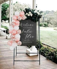 Board Ballon Garland-DIY Mini Ballon Garland Wedding Welcome Board Balloon Garland-DIY Mini Balloon Wedding Balloon Decorations, Wedding Balloons, Garland Wedding, Engagement Balloons, Wedding Welcome Board, Welcome To The Party, Welcome Boards, Baloon Garland, Balloon Backdrop
