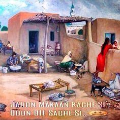 Painting - Old Punjabi house