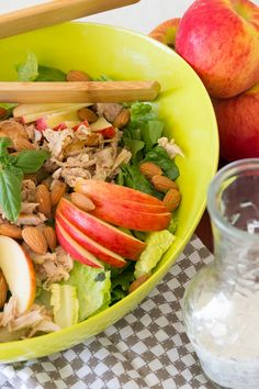 Summer fruit, leftover chicken, & a quick and easy dressing make an amazing salad. I'm in love with this Apple & Chicken Salad w/ Honey Poppyseed Dressing.