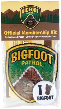 BIGFOOT PATROL OFFICIAL MEMBERSHIP KIT $10.00 #cryptozoology #bigfoot #novelty #gift