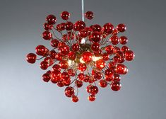 Ceiling lamp Red lamp Red bubbles by yehudalight on Etsy