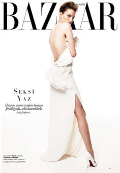 Harper's Bazaar Turkey June 2013 issue : Editorial : Beyaz Masallar ( White Fairy Tales ) Model: Marique Schimmel Photographer: Gianluca Fontana Stylist: Sara Francia Hair: Adalberto P Make-Up: Enrico Mariotti Fashion Magazine Cover, Fashion Cover, Magazine Covers, Magazine Mode, Vogue Magazine, Vanity Fair, Harper's Bazaar, Mode Editorials, Fashion Editorials