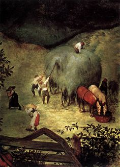 Haymaking (detail) by Pieter Bruegel