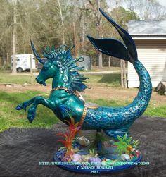 Custom seahorse from a Breyer classic model horse.