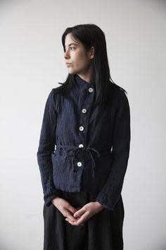 Josephine Split Back Jacket - Midnight Blue