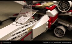 Woah! A computer generated Star Wars Lego X-wing. Sweetness!