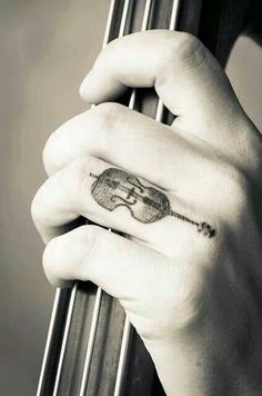 Finger tattoo violin #music #tattoo #strings