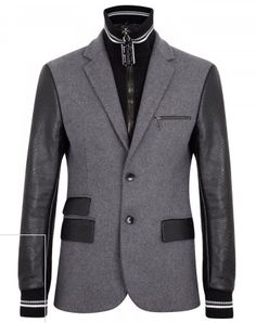Philipp Plein grey wool felt jacket Snake print leather sleeves, detachable ribbed underlay and trims, three leather trimmed front pockets, zip fastening front pocket, designer plaque at back, fully lined Razor embellished zip fastening through front Fabric1: 100% wool; fabric2: 100% leather; lining: 100% viscose - See more at: http://www.harveynichols.com/mens/categories/designer-jackets-coats/jackets/s466707-leather-and-wool-felt-jacket.html?colour=GREY#sthash.cyY0dv6P.dpuf