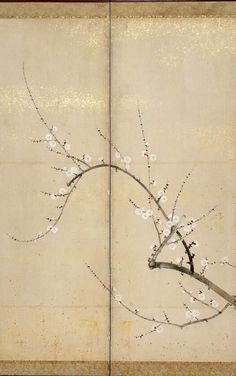 Flowering Plum and Camellia. Japanese folding screen by 鈴木其一Suzuki Kiitsu. ink, color and gold on paper, Rinpa style. circa Honolulu Museum of Art. Japanese Screen, Japanese Art, Chinese Painting, Chinese Art, Graphic Design Art, Ink Color, Art And Architecture, Asian Art, Art Direction