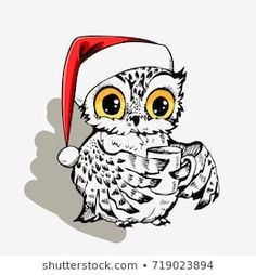 Explore high-quality, royalty-free stock images and photos by Svesla Tasla available for purchase at Shutterstock. Coffee Cup Tattoo, Royalty Free Images, Royalty Free Stock Photos, Christmas Owls, Printed Bags, Image Collection, Print Design, How To Draw Hands, Illustration