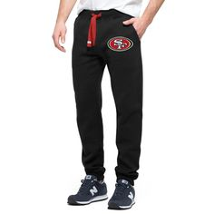 Chicago Bulls Black Cross Check Fleece Sweatpants for sale online Nba Store, Washington Wizards, Mens Crosses, Mens Sweatpants, Chicago Bulls, Jogger Pants, Classic Looks, Yoga Pants, Sportswear