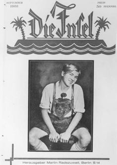 1931 issue of the German gay magazine Die Insel.