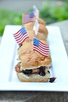 Red, White, and Blue Turkey Burger Sliders Recipe