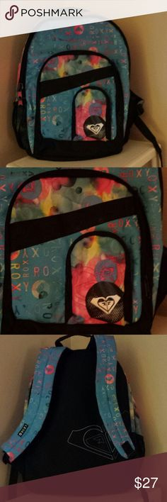 New Roxy backpack! Adorable!  Worn twice.  In PRIME, like new condition.   Thanks for browsing!  TV $35 Thx! Roxy Bags Backpacks