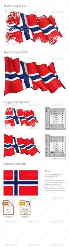 Norway Flag Grunge