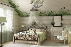 Do you want your bedroom not only comfortable but also stylish? Then find out all the intricacies and secrets of creating a delightful bedroom design with us. Tissu Chinoiserie, Provence Interior, Interior Architecture, Interior Design, Metal Beds, Cozy House, Home Furniture, Sweet Home, Bedroom Decor