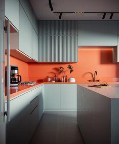 VWArtclub - Mandarin Modern Kitchen Design, Interior Design Kitchen, Interior Exterior, Interior Architecture, Espace Design, Interior Design Inspiration, Home Kitchens, Kitchen Dining, Ikea
