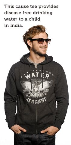 Is your clothing Socially Conscious? This #hoodie does more than keep you warm - It builds 3 clean water wells in India. Talk about #DoGood http://svnly.org/PinLink