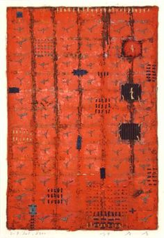 Takahiko Hayashi ~ D-7, 2000 (paper making, painting, collage)