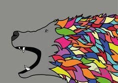 Bear rainbow illustrator
