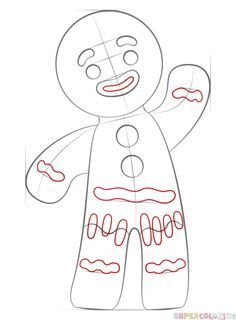 How To Draw A Gingerbread Man Step By Drawing Tutorials For Kids And Beginners