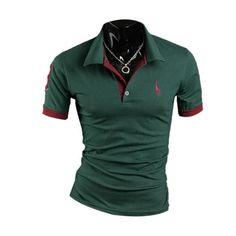 Men's T-shirt Stylish Slim Fit Short Sleeve Casual Polo Shirts T-shirt